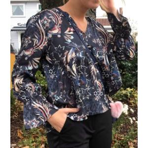 Neon garden blouse