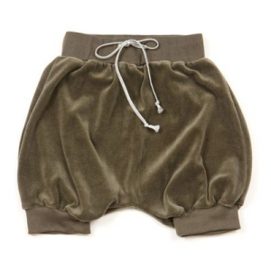 HUTTELIHUT - SHORTS VELOUR ARMY