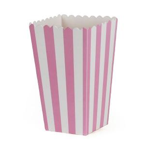 Boks Popcorn Rosa Stripet, 6 stk CACAS