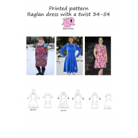 Raglan dress with a twist adult