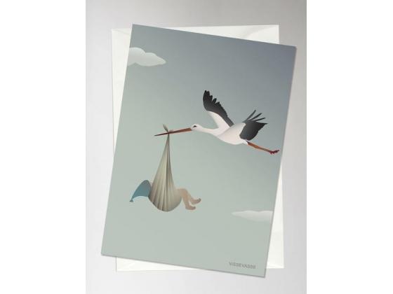 The stork blå