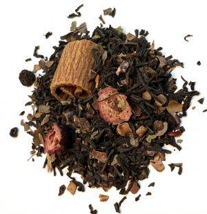 Blåbær sjokolade-te