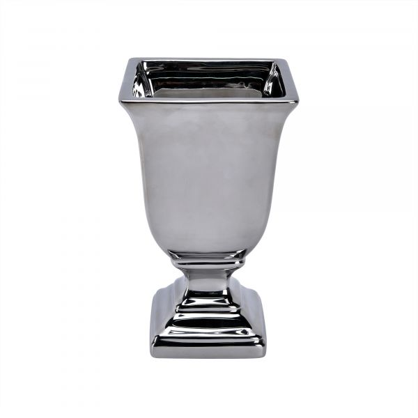 Pokalpotte firkantet sølv - 15x25