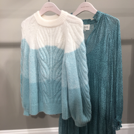 Nord Knit O-Neck Aqua