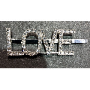 The Crystal Letter Hairclip Love