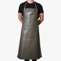 Apron extra long BBQ new grey