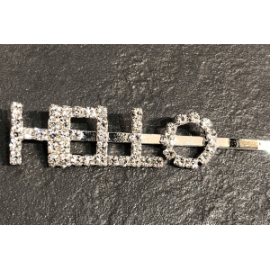 The Crystal Letter Hairclip Hello