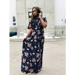 Flared gown dress - posy