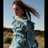 Liberte frill blouse