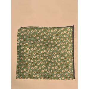 Eton Lommetørkle Grønt flowerprint lommetørkle