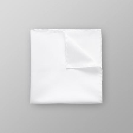 Hvit Twill Pocket Square