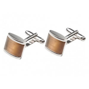 Cufflinks Brown Catseye