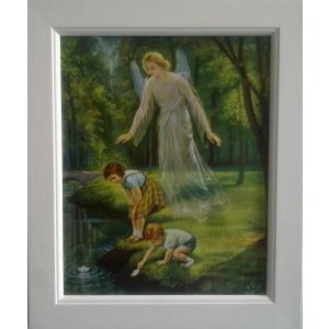 Bilde - Barna ved bekken 20 x 25 cm