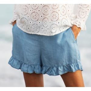 Shorts med rysjekant