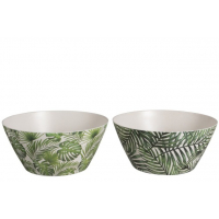 Bowl Tropical Bamboo Green Large