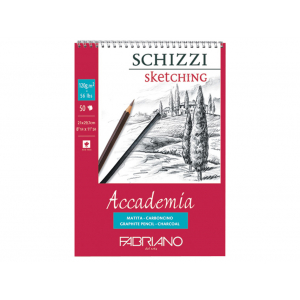 Fabriano Accademia Sketch Spiral 120g A5 – 50ark