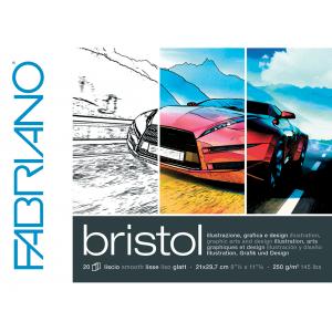 Fabriano Bristol 250g A4 – 20 ark – Blokk til marker