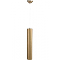 Hanging Lamp Cylinder Metal Gold Large