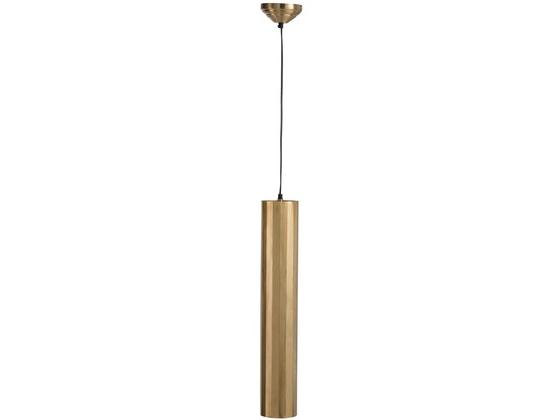 Hanging Lamp Cylinder Metal Gold Large