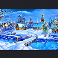 Hytter vinterstid ( landskap)