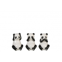 Panda Porcelain Black/White