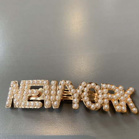 NEW YORK perlehårspenne