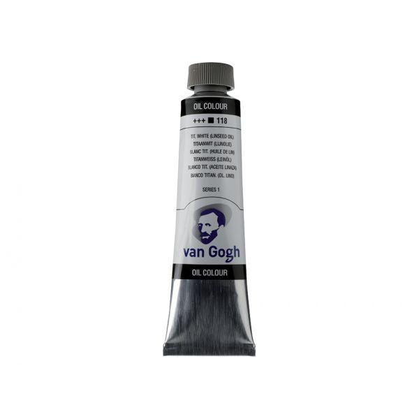 Van Gogh Olje 40ml – 118 Tit. white (linseed oil)