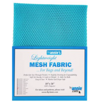 Parrot Blue Lightweight Mesh Fabric18x54in