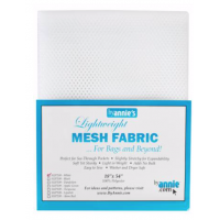 White Mesh Lite Weight  18in x 54in