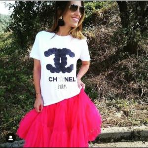 Chanel black roses