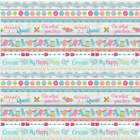 Multi My Happy Place Border Stripe