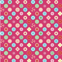 Fuchsia Squared Buttons