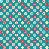 Teal Squared Buttons