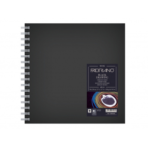 Fabriano Book Black Drawing – 190g 15×15 cm