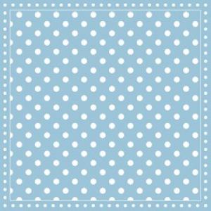 Napkin 33 Stripes Dots Light Blue FSC Mix