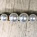 Hårspenne perler gull