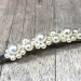 Hårspenne perler smal