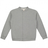 GRAY LABEL - BASEBALL CARDIGAN GREY MELANGE