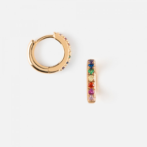 RAINBOW GOLD HOOP