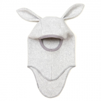 HUTTELIHUT - ELEFANTHUT FLEECE RABBIT LIGHT GREY