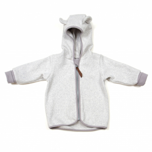 HUTTELIHUT - JAKKE FLEECE LIGHT GREY