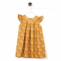 HUTTELIHUT - SOPHIE DRESS CAPEL TANA LAWN MUSTARD