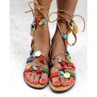 MELOVE Hippe pompom sandaler