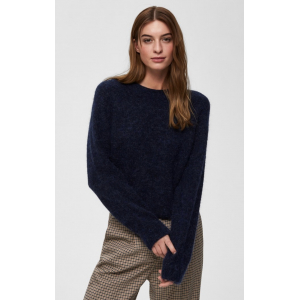 Kaila Knit O-Neck  -navy