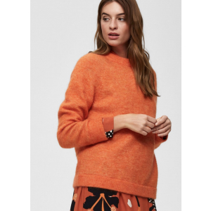 Kaila Knit O-Neck  -orange