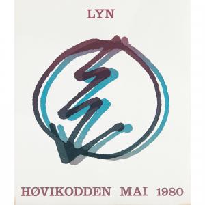 Plakat vintage silketrykk Lyn 1980