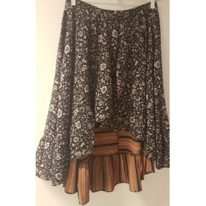 Printet skirt in bonded fabric