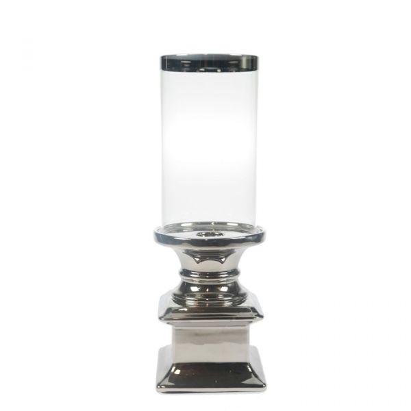 ANDREA Lyslykt sølv 8,5 x 22,5 cm