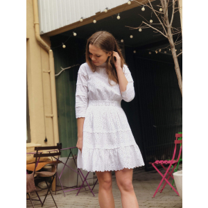 Broderie anglaise dress - white