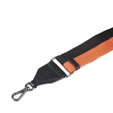 Finley Guitar Strap Black+Orange